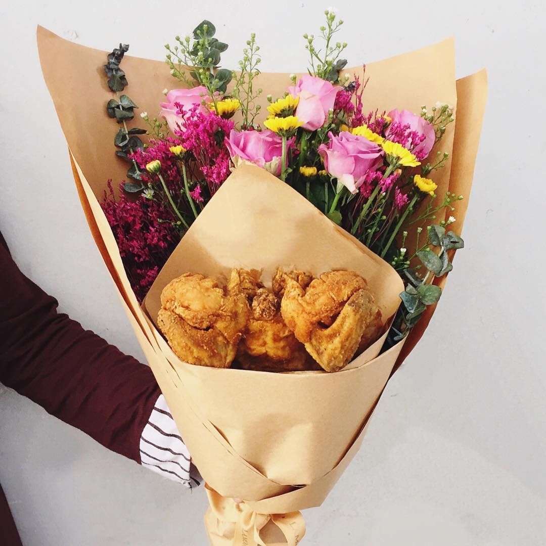 13 Craaaazy Instagrammers Using Food Bouquets To Say I Love You Food Bouquet Food Diy