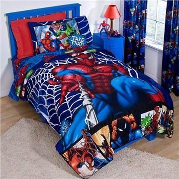 Spiderman Comic Kids Bedding For Boys Spiderman Bed Toddler Bed Set Spiderman Bedroom
