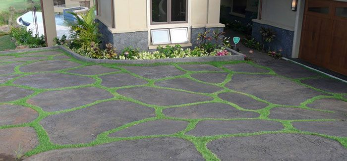 How to make lava stone driveway would be an for Lava rock pavers