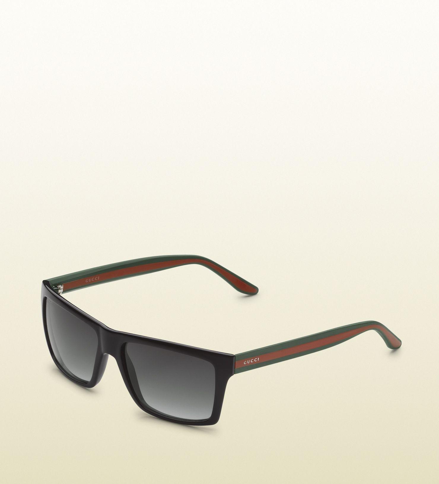 medium rectangle frame sunglasses with gucci logo o ...   Sunglasses ...
