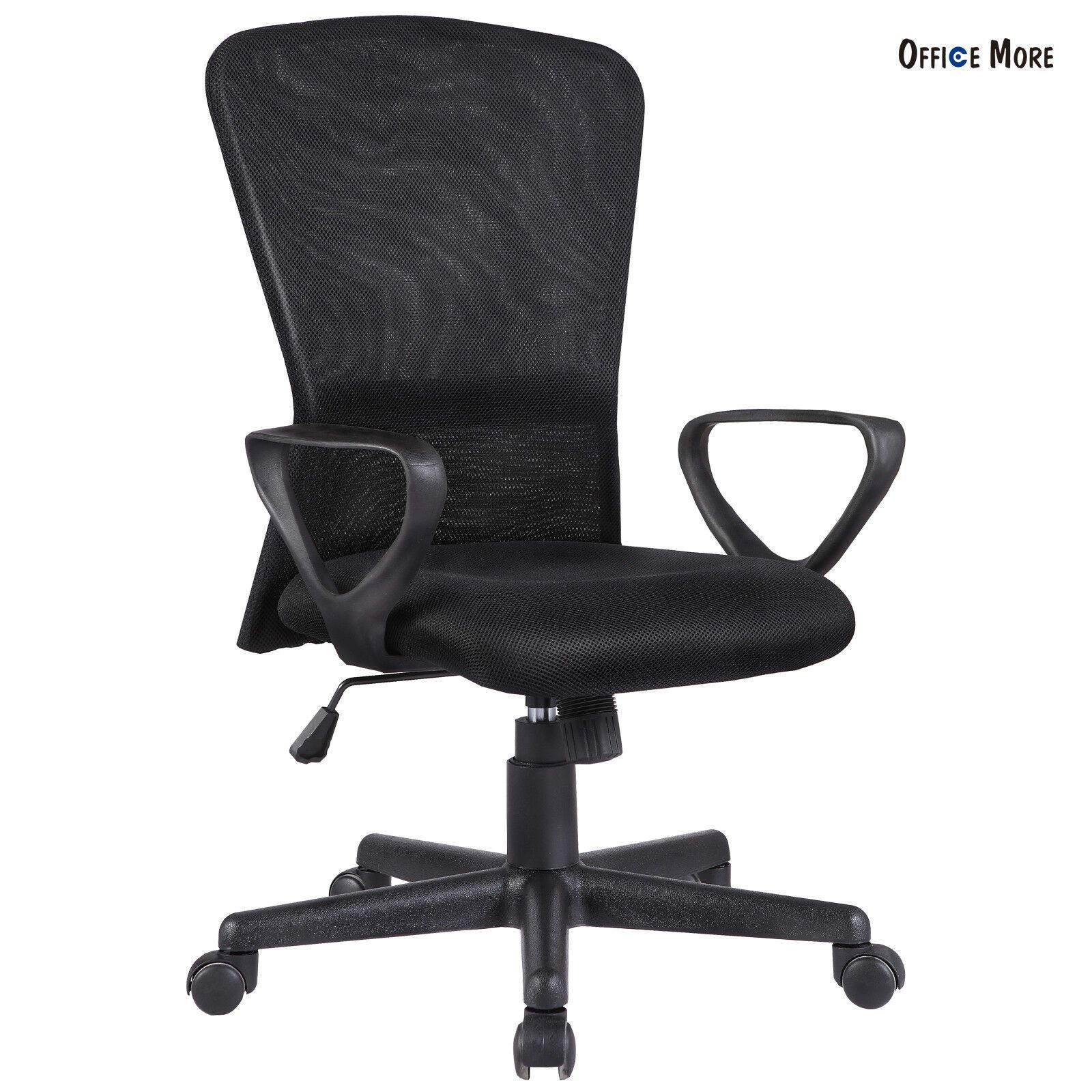 Ergonomic Mesh Office Chair Fit Computer Chair Desk Armrest With Back Black Of In 2020 Office Chair Mesh Office Chair Chair
