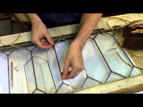 Lovely How To Repair A Leaded Glass Panel Using Copper Foil Techniques. David Gomm  Does A Rough And Ready Repair (as Requested By His Client!