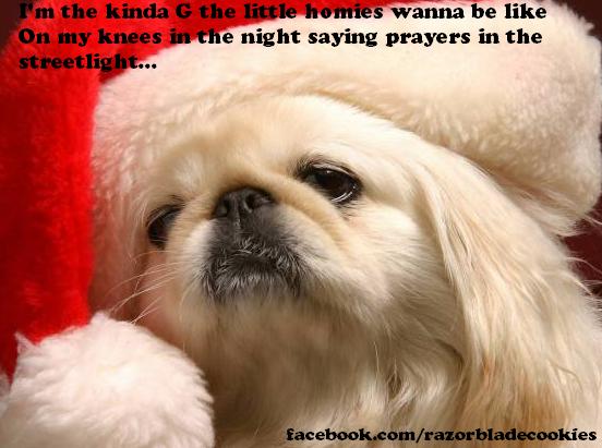 83fc72fe0de668c7d183f76c8d77a4a5 santa gangsters paradise throwback facebook com razorbladecookies,Funny Santa Memes