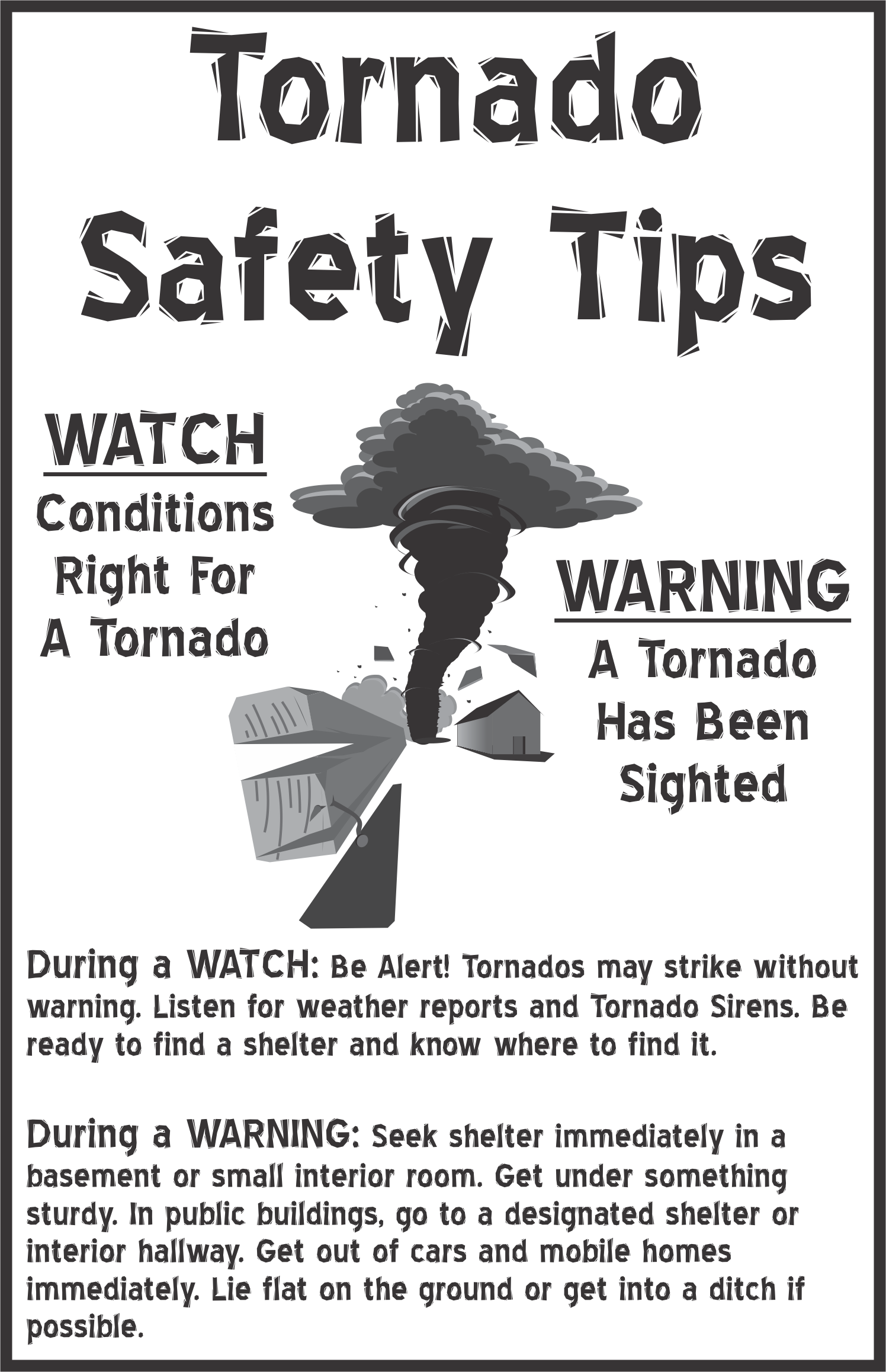 Easy Difference Between Tornado Watch And Warning