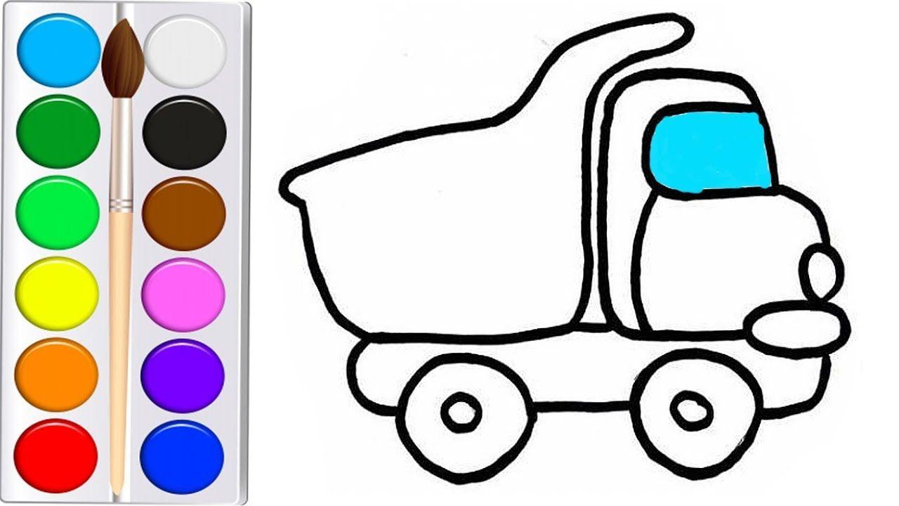 Как нарисовать МАШИНУ ГРУЗОВИК мультик раскраска ГРУЗОВИК ...