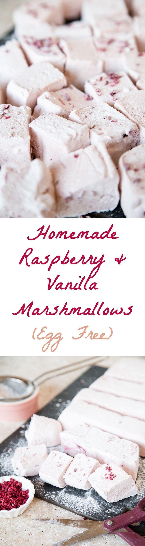 Easy to Make Raspberry & Vanilla Homemade Marshmallows