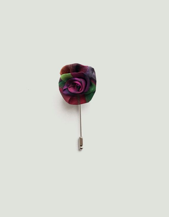 Flower lapel pin for men made of printed silk httpsetsy flower lapel pin for men made of printed silk httpsetsy mightylinksfo