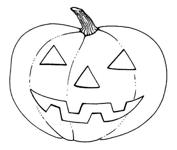 La famosa calabaza de Halloween no podia faltar en los dibujos ...