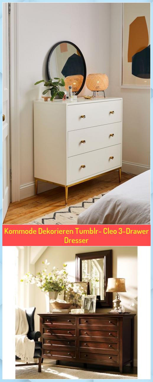 Kommode Dekorieren Tumblr Cleo 3 Drawer Dresser In 2020 Dresser