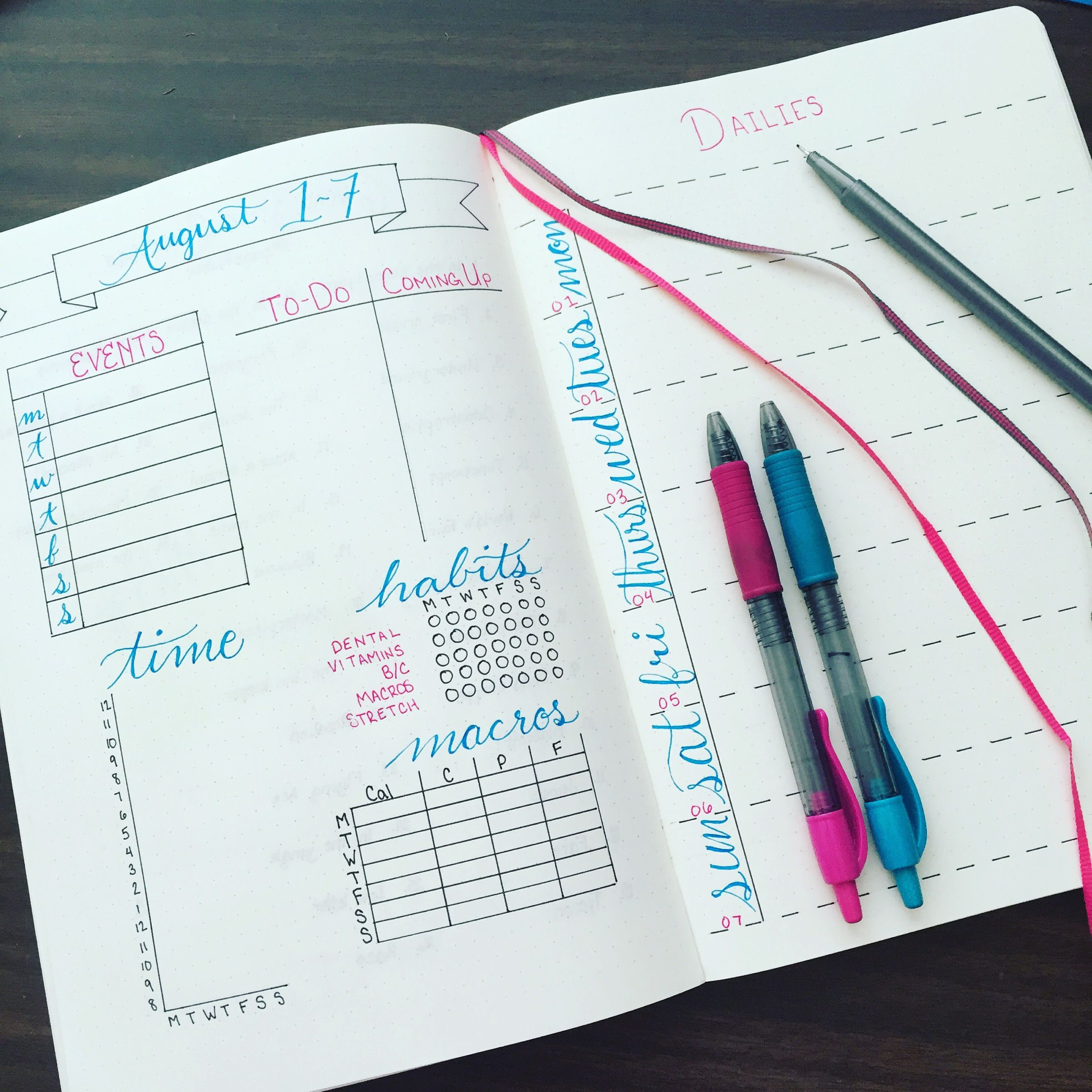 Playing With A New Weekly Layout In My B5 Size Of This