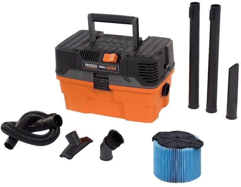 New Ridgid 4 5 Gal Shop Vacuum 5 Peak Wet Dry Vac Compact Cleaner Car Portable Wet Dry Vacuum Wet Dry Vac Wet And Dry