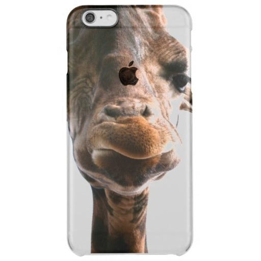 Amazing giraffe head what could be more fun clear iPhone 6 plus case