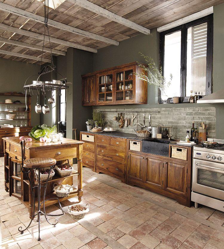 Maisons du monde cucina classica lub ron arredica for Casa rustica classica