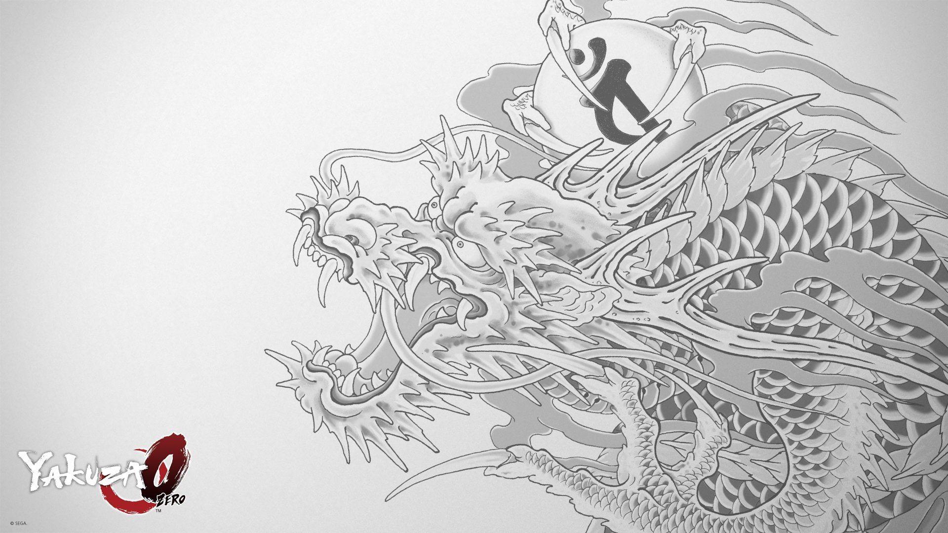Video Game Yakuza 0 Dragon Tattoo 1080p Wallpaper Hdwallpaper Desktop In 2021 Doodle Art Flowers Hd Wallpaper Doodle Art Journals Yakuza tattoo design wallpaper