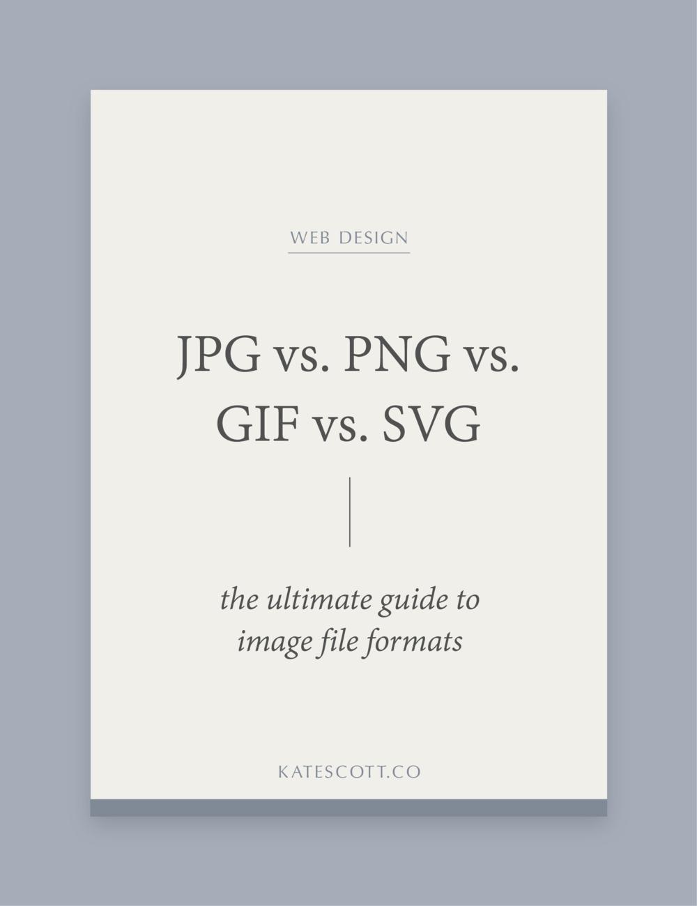 Jpg Vs Png Vs Gif Vs Svg The Ultimate Guide To Image File Formats Squarespace Designer Kate Scott Web Design Web Design Quotes Image File Formats