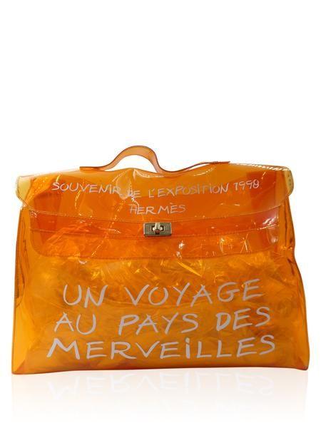 673cc110002e Hermes Orange Vinyl Kelly Beach Souvenir De L exposition Handbag ...