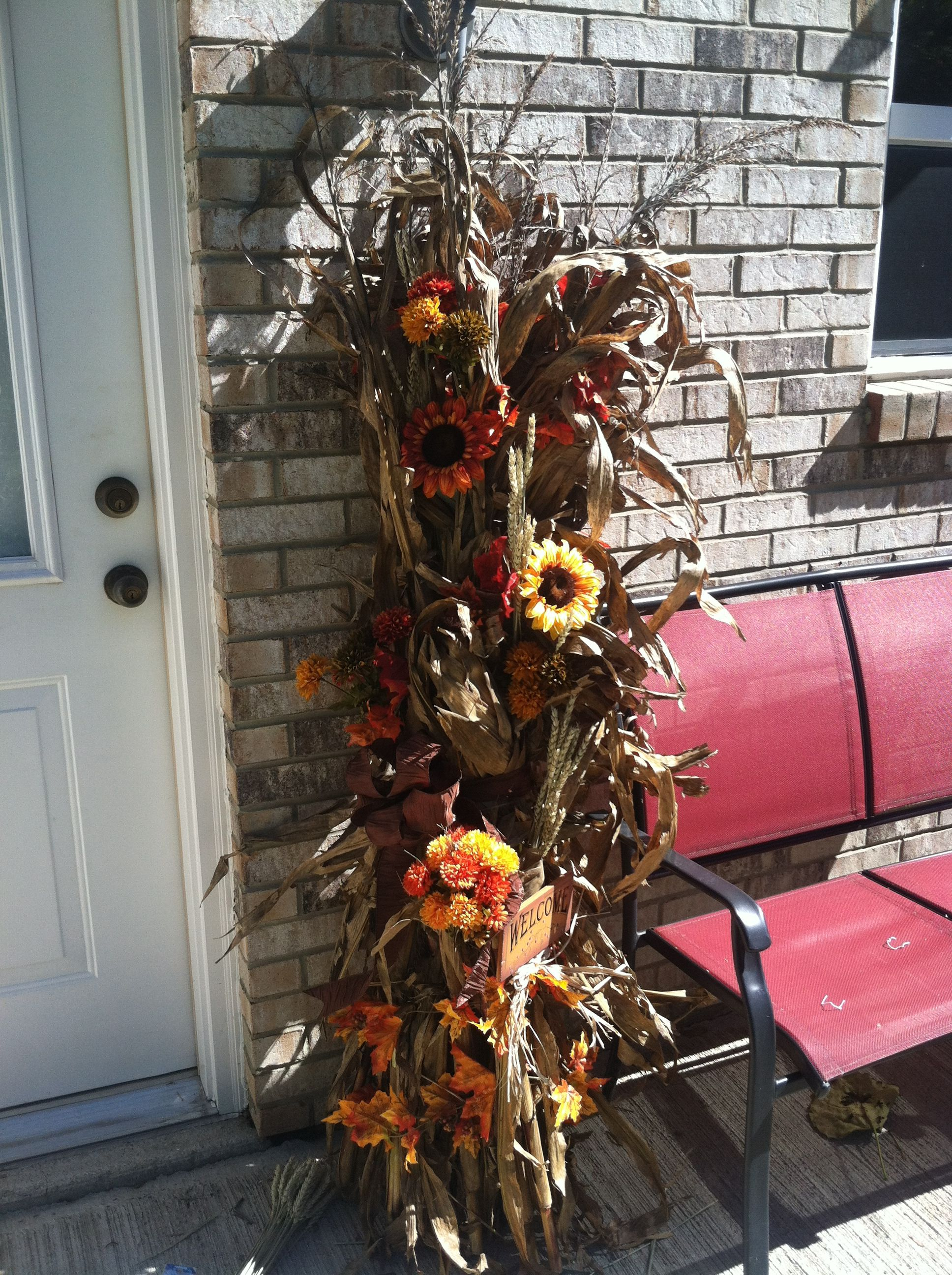 My Very Own Decorative Corn Stalk Took About 15 Minutes Fall Is