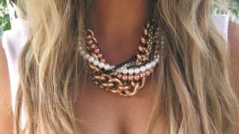 At First Blush Rose Gold statement necklace Blush Co Jewellery