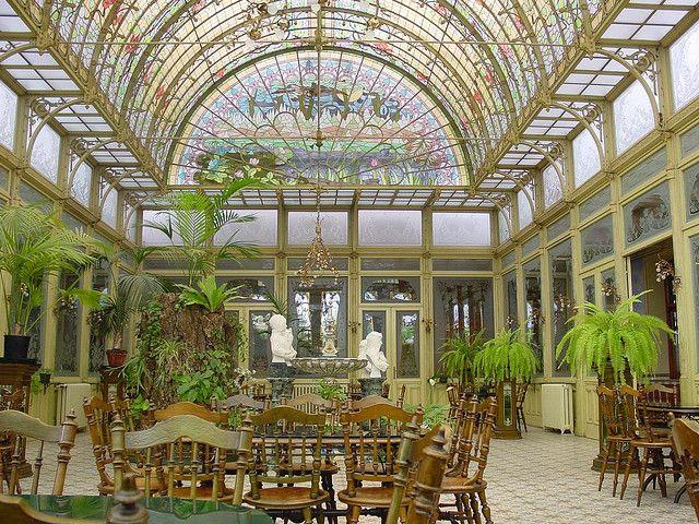 Wintergarden Ursulines, Onze-Lieve-Vrouw-Waver (near Mechelen, Belgium) : beautiful place of reception of the pupils and visitors. Art nouveau, 1900,architect unknown