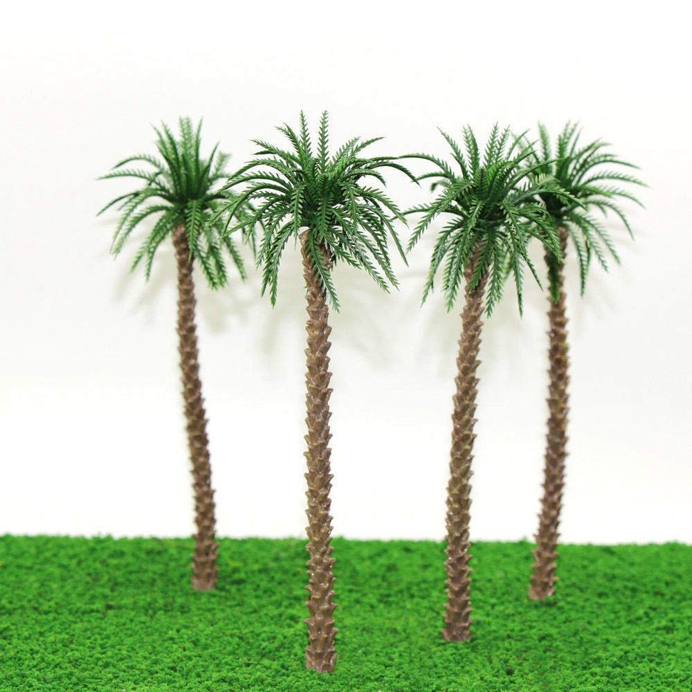 YS02 10pcs 8 inch Model Qil Palm Trees Model Layout Train Scale 1/50 O HO NEW #Everest