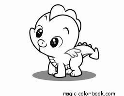baby dragon coloring pages online free. fantasy-flying-cute-kawaii ... - Baby Girl Coloring Pages Kids