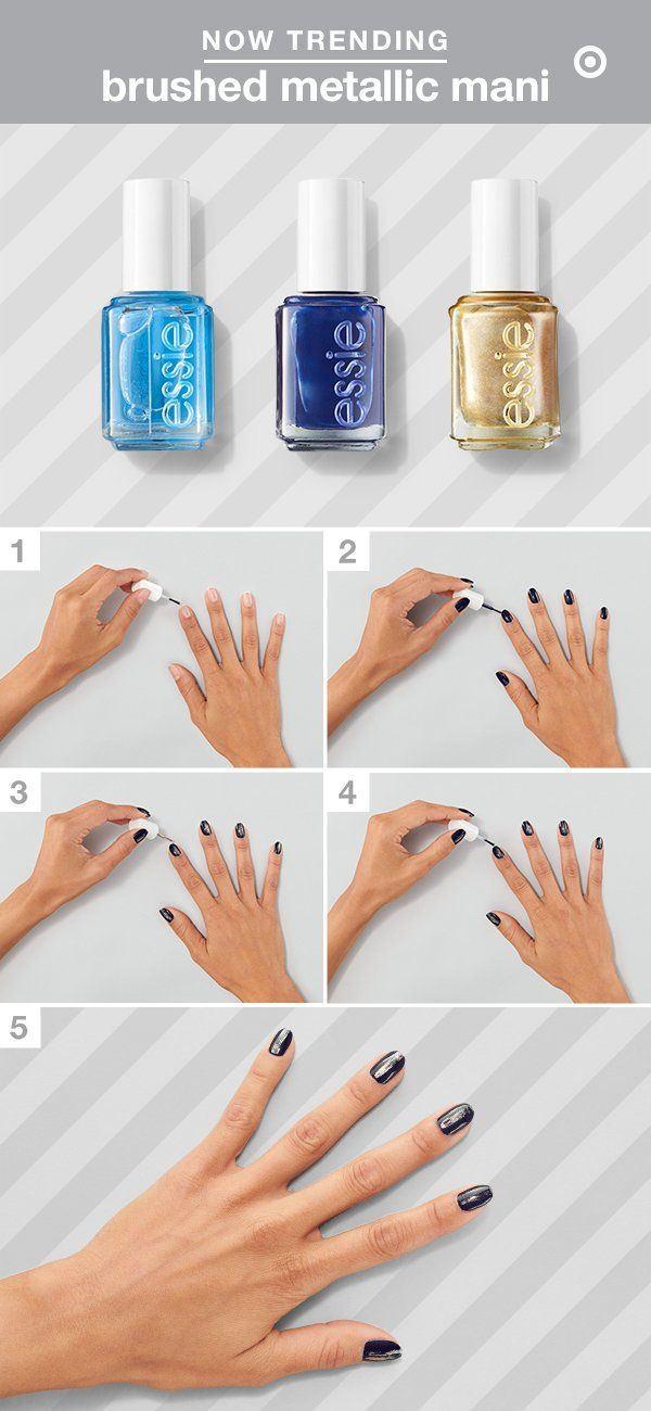 Here\'s how to get an easy and glam dry-brushed mani with essie Nail ...