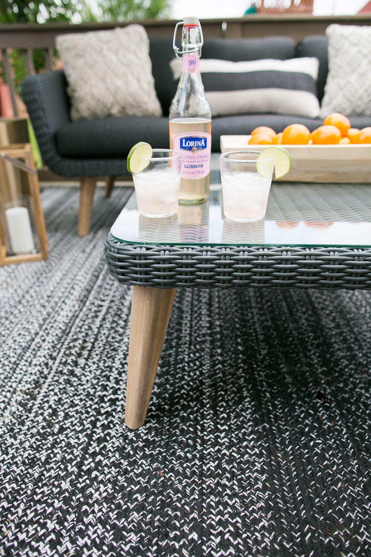 Ora Slate Gray Coffee Table Painted Wicker Wicker Table Wicker Headboard [ 1875 x 1250 Pixel ]