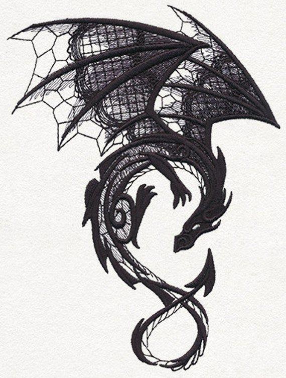 Dragon Field Bag Embroidered Dragon Dragon Bag Dark | Etsy