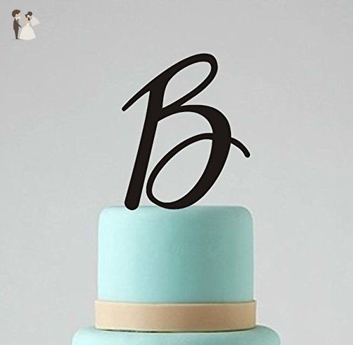 Single Monogram Wedding Cake Topper Custom Personalized Cake