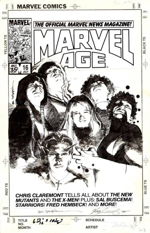 1984 - Anatomy of a Cover - Marvel Age #16 by Bill Sienkiewicz