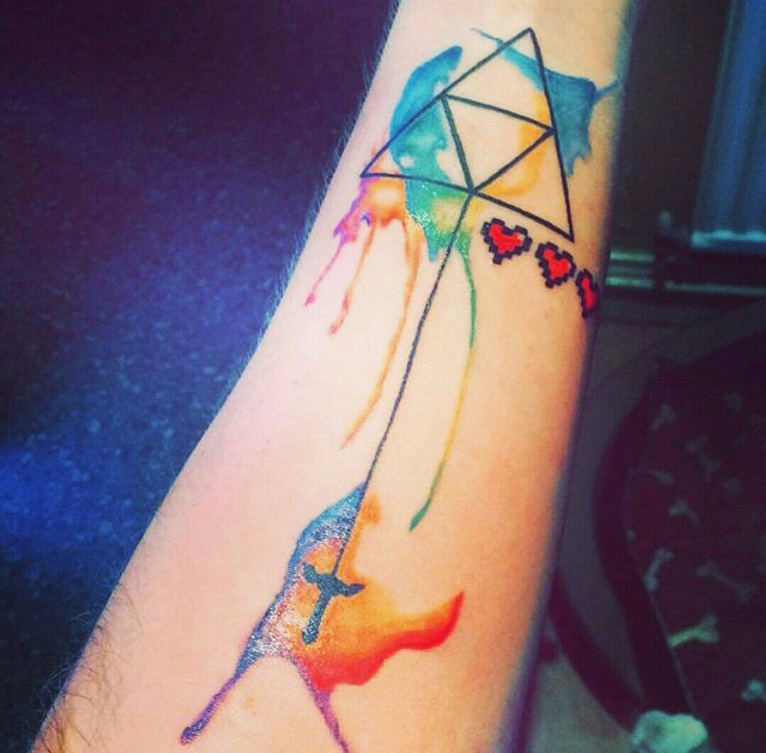 Triforce Watercolor (With images) Zelda tattoo, Legend
