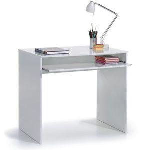 Leo Computer Study Desk Childrens Bedroom Furniture High Gloss White Melamine