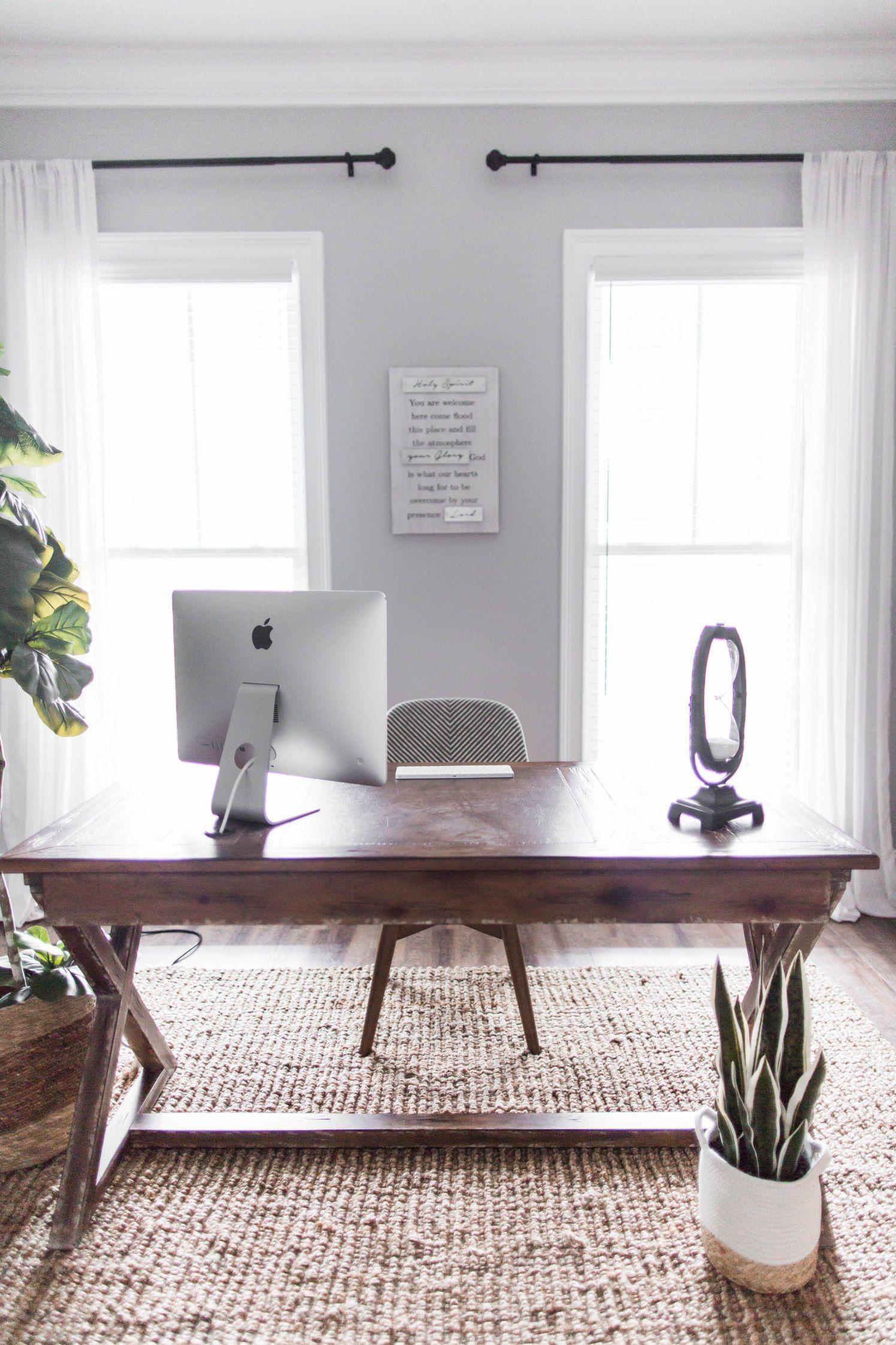 Office/Homeschool Room Farmhouse desk, Wood storage