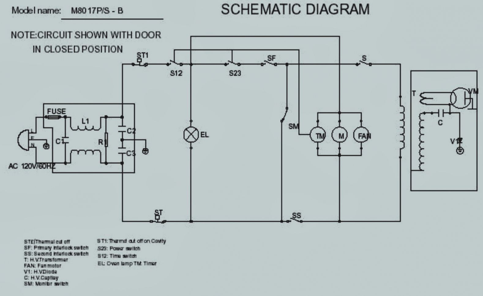 pictures microwave oven wiring diagram