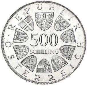 500 Schilling Münzen österreich Ankauf Und Verkauf Münzhandel