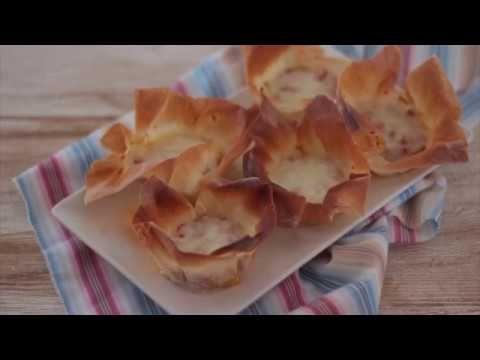 Canastillas de pasta philo con boloñesa y queso  | La cocina perfecta