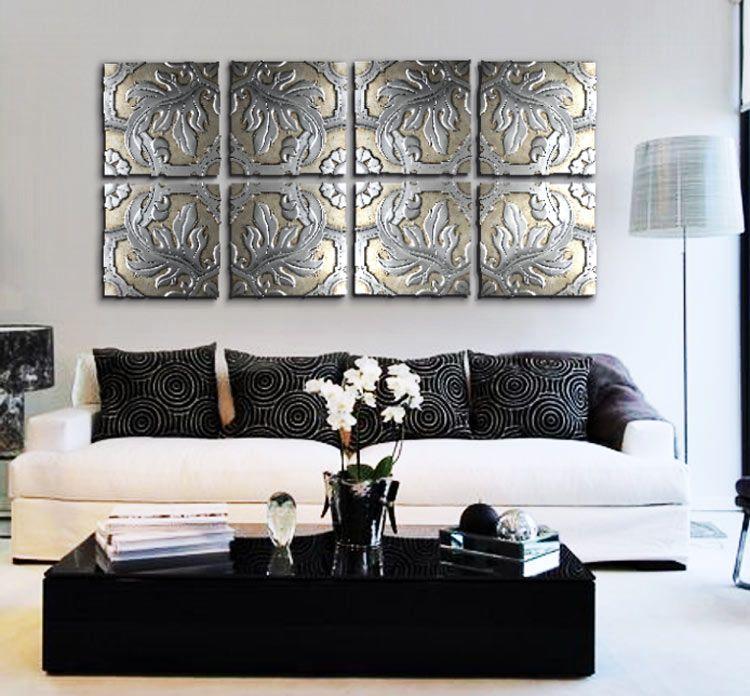 Tienda de cuadros para sofas decorar con pan de plata for Cuadros plateados baratos