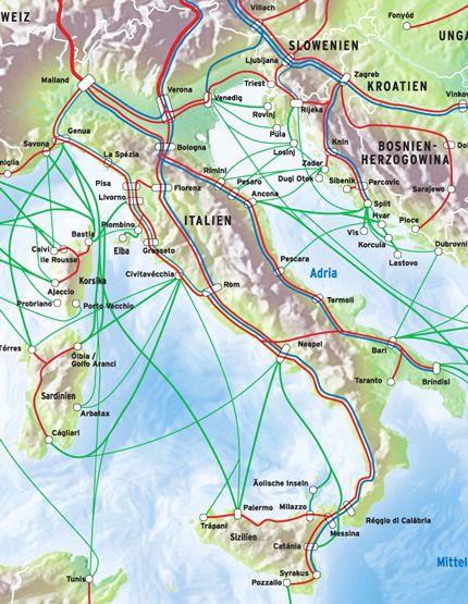 Italien Anreise Mit Zug Und Bus Fahrradmitnahme Zugverkehr Im