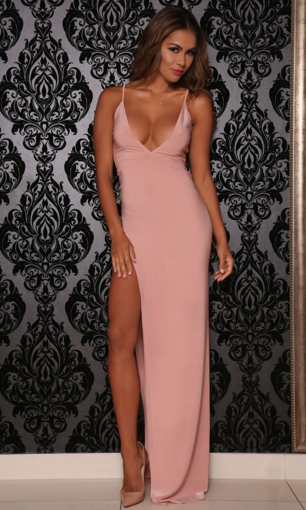 Moda Glam Boutique - Abyss by Abby Ambrosia Dress- Pink | Fancy ...