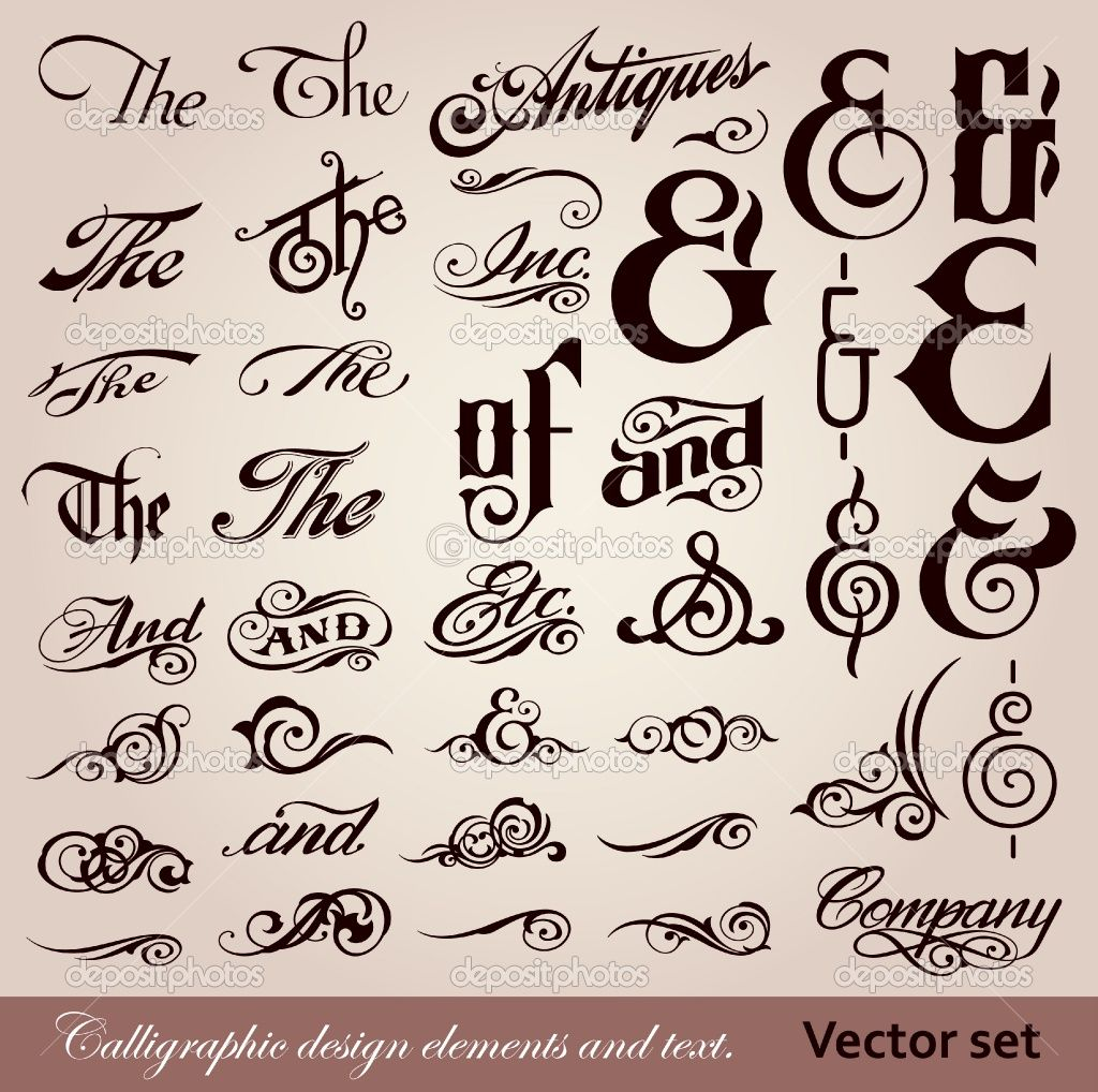 Calligraphy Font Vector Font Calligraphy Design