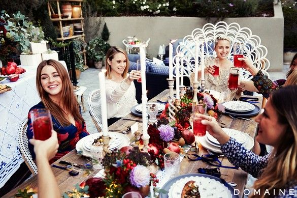 Dianna Agron's backyard dinner party.