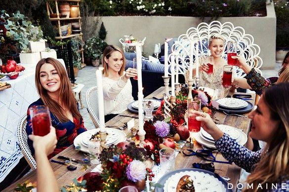 Dianna Agron's backyard dinner party.