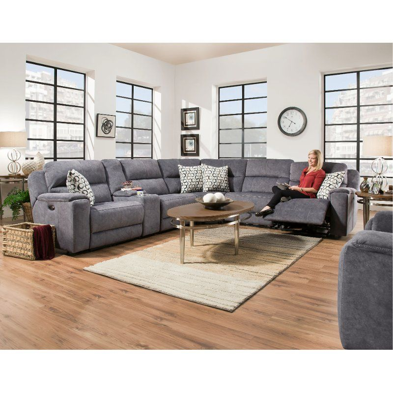 Peachy Blue 6 Piece Power Reclining Sectional Sofa Imprint In Evergreenethics Interior Chair Design Evergreenethicsorg