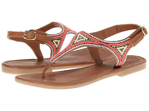 Madden Girl Riddlee Beaded T-Strap Flat Thong Sandal synthetic bright multi  (49.95)
