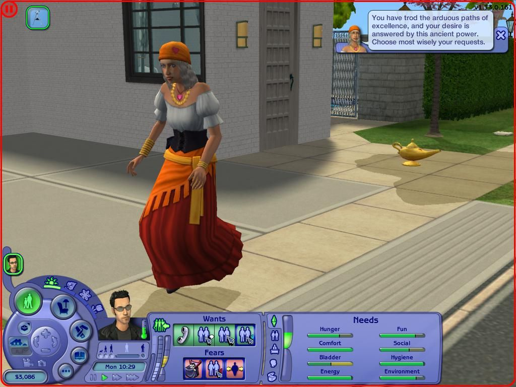 ModTheSims - More chance of getting the genie lamp from Gypsy ...
