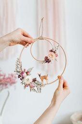 Photo of DIY Dekoration Hochzeit mit getrockneten Blumen und Strampeln # D