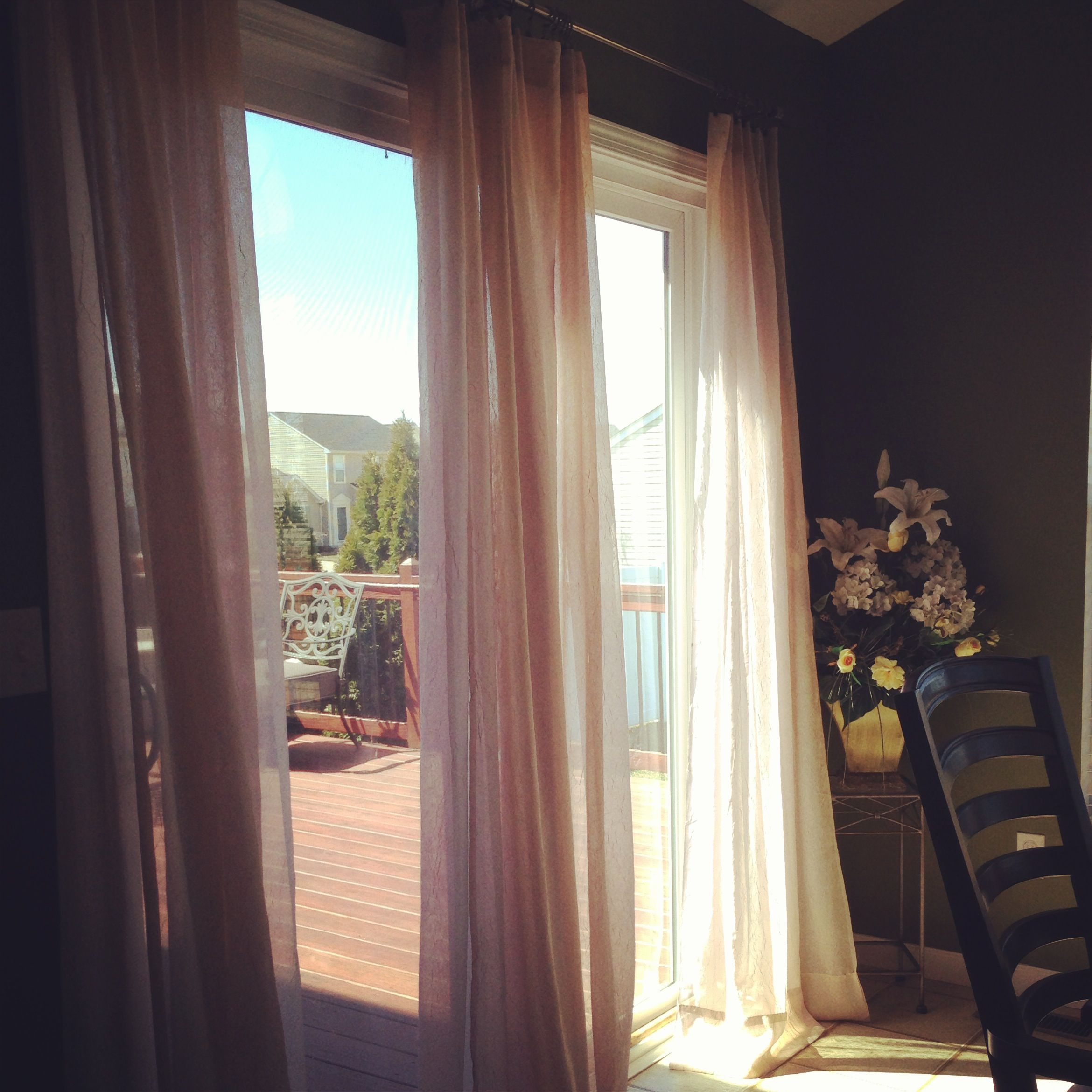 Use Curtains Instead Of Vertical Blinds On Your Sliding