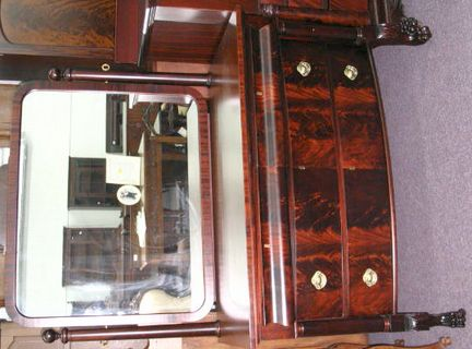 American mahogany dresser with empire flair morris for American empire bedroom furniture