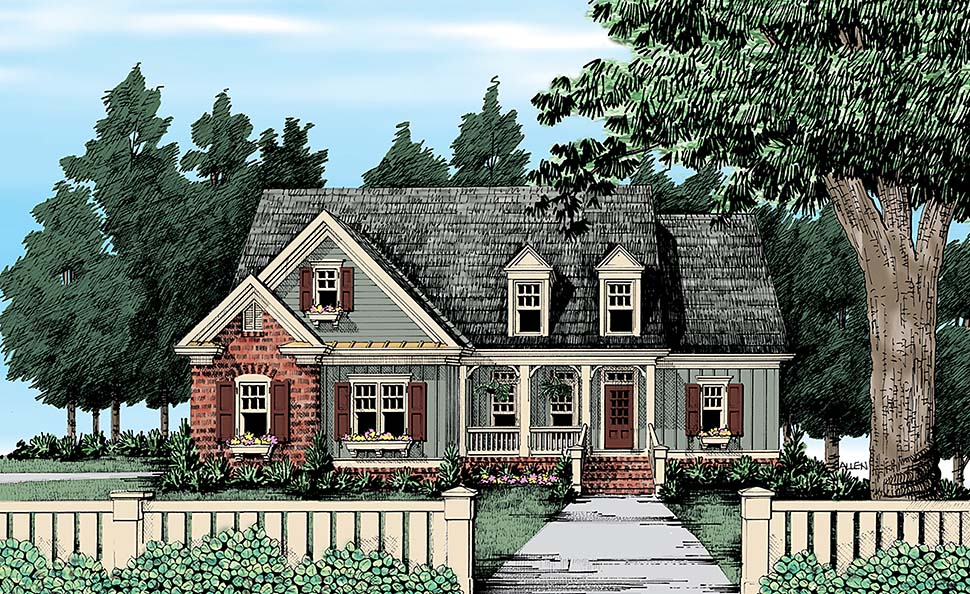 Traditional Style House Plan 83079 With 4 Bed 3 Bath 2 Car Garage In 2020 Country Style House Plans Craftsman Cottage Country House Plans