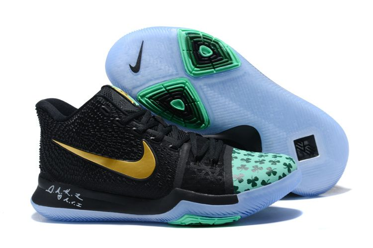 5d6beccf5384 2017 Nike Kyrie 3 Shamrock PE Mens Shoes Free Shipping